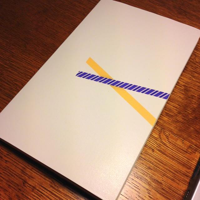 モレスキンのヴォラン(プレーン、ホワイト)で自作手帳。