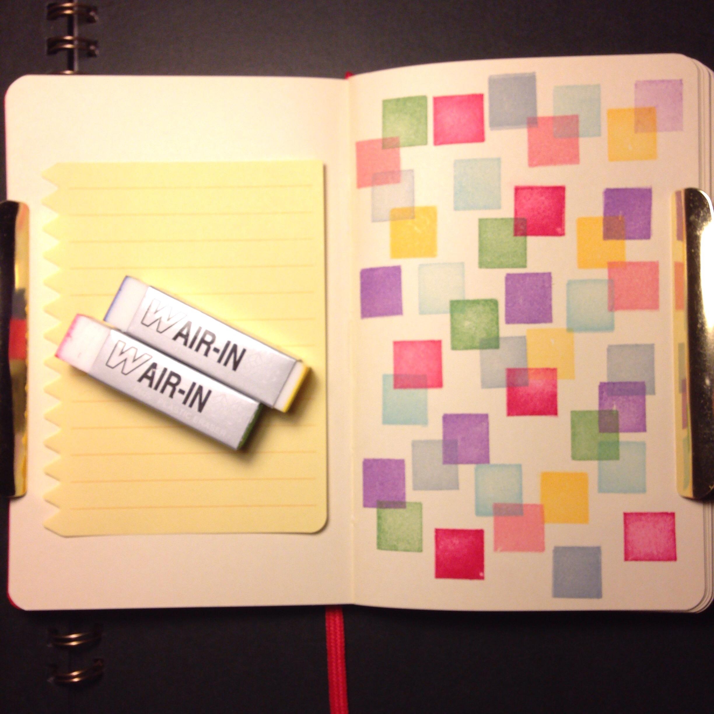 消しゴムでノートにドットパターン