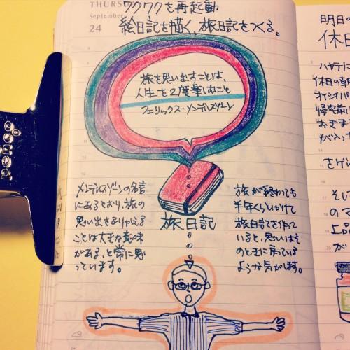 旅日記を作る楽しみ