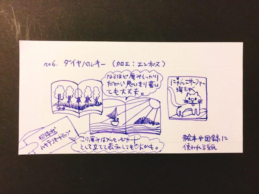 伝書紙no.6「ダイヤバルキー」